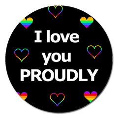 Proudly love Magnet 5  (Round)