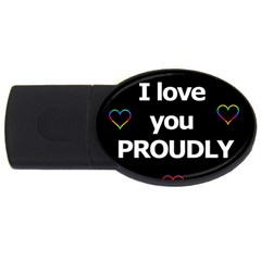 Proudly love USB Flash Drive Oval (1 GB)