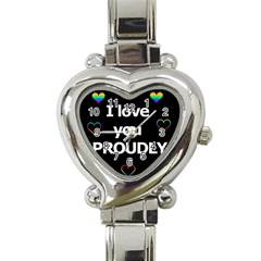 Proudly love Heart Italian Charm Watch