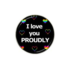 Proudly love Hat Clip Ball Marker (4 pack)