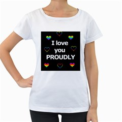 Proudly love Women s Loose-Fit T-Shirt (White)