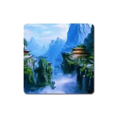 Fantasy nature Square Magnet