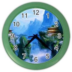 Fantasy nature Color Wall Clocks