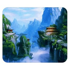 Fantasy nature Double Sided Flano Blanket (Small)