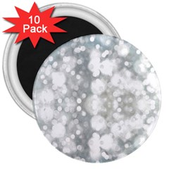 Light Circles, watercolor art painting 3  Magnets (10 pack)