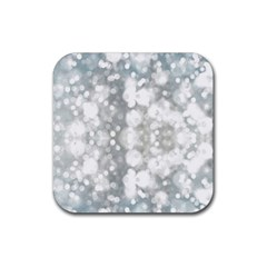 Light Circles, watercolor art painting Rubber Square Coaster (4 pack)