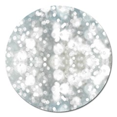 Light Circles, watercolor art painting Magnet 5  (Round)
