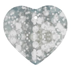 Light Circles, watercolor art painting Heart Ornament (2 Sides)