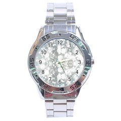 Light Circles, watercolor art painting Stainless Steel Analogue Watch