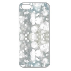 Light Circles, watercolor art painting Apple Seamless iPhone 5 Case (Clear)