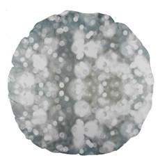 Light Circles, watercolor art painting Large 18  Premium Round Cushions