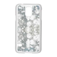 Light Circles, watercolor art painting Samsung Galaxy S5 Case (White)