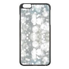 Light Circles, watercolor art painting Apple iPhone 6 Plus/6S Plus Black Enamel Case