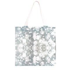 Light Circles, watercolor art painting Grocery Light Tote Bag