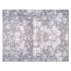 Light Circles, rouge Aquarel painting Rectangular Jigsaw Puzzl
