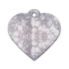 Light Circles, rouge Aquarel painting Dog Tag Heart (One Side)