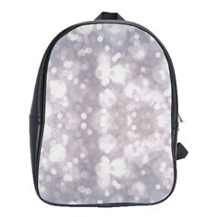 Light Circles, rouge Aquarel painting School Bags(Large)