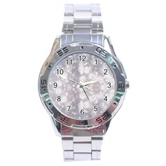 Light Circles, rouge Aquarel painting Stainless Steel Analogue Watch