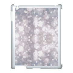 Light Circles, rouge Aquarel painting Apple iPad 3/4 Case (White)