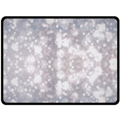 Light Circles, rouge Aquarel painting Double Sided Fleece Blanket (Large)