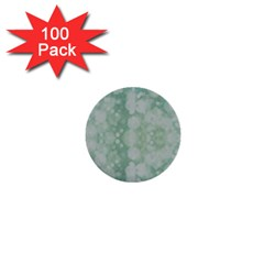 Light Circles, Mint green color 1  Mini Buttons (100 pack)