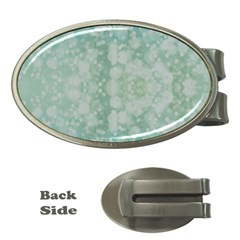 Light Circles, Mint green color Money Clips (Oval)