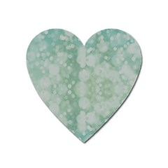 Light Circles, Mint green color Heart Magnet