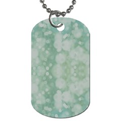 Light Circles, Mint green color Dog Tag (Two Sides)