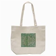 Light Circles, Mint green color Tote Bag (Cream)