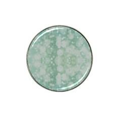 Light Circles, Mint Green Color Hat Clip Ball Marker