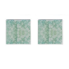 Light Circles, Mint green color Cufflinks (Square)