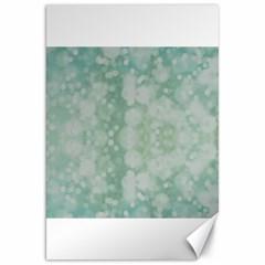 Light Circles, Mint green color Canvas 20  x 30