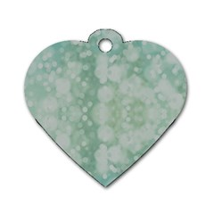 Light Circles, Mint green color Dog Tag Heart (One Side)