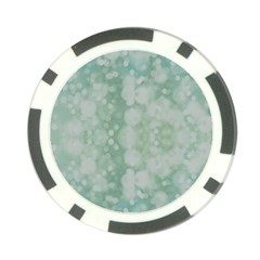 Light Circles, Mint green color Poker Chip Card Guards