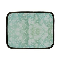 Light Circles, Mint green color Netbook Case (Small)