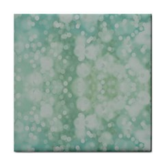 Light Circles, Mint green color Face Towel