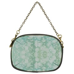 Light Circles, Mint green color Chain Purses (Two Sides)