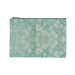Light Circles, Mint green color Cosmetic Bag (Large)