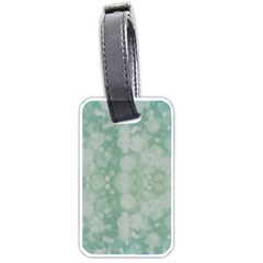 Light Circles, Mint green color Luggage Tags (One Side)