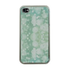 Light Circles, Mint green color Apple iPhone 4 Case (Clear)