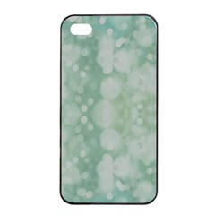 Light Circles, Mint green color Apple iPhone 4/4s Seamless Case (Black)