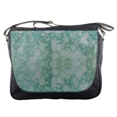 Light Circles, Mint green color Messenger Bags