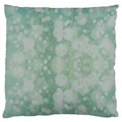 Light Circles, Mint green color Large Cushion Case (Two Sides)