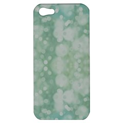 Light Circles, Mint green color Apple iPhone 5 Hardshell Case