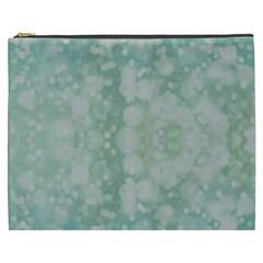 Light Circles, Mint green color Cosmetic Bag (XXXL)