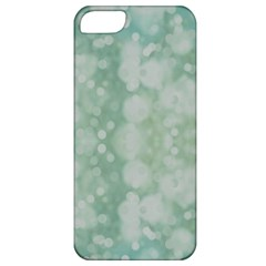 Light Circles, Mint green color Apple iPhone 5 Classic Hardshell Case