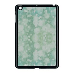 Light Circles, Mint green color Apple iPad Mini Case (Black)