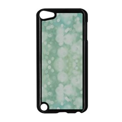 Light Circles, Mint green color Apple iPod Touch 5 Case (Black)