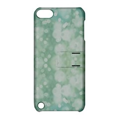 Light Circles, Mint green color Apple iPod Touch 5 Hardshell Case with Stand