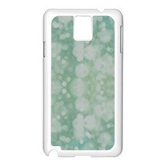 Light Circles, Mint green color Samsung Galaxy Note 3 N9005 Case (White)